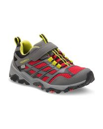 Big Kid's Merrell Moab FST Lo AC Waterproof Grey / Red