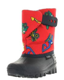 Boy's Tundra Teddy Red Trucks/ Navy bottom