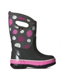 Kid's Bogs Classic Sketch Dots Gray