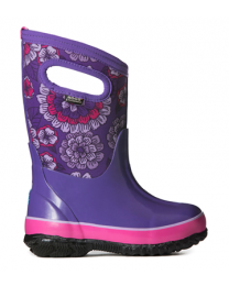 Kid's Bogs Classic Pansies Purple