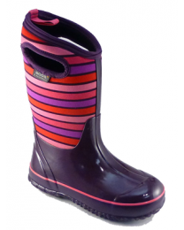 Kid's Bogs Classic Stripes Purple