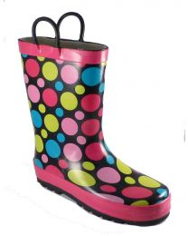 Kid's Western Chief Dot Party Rain Boot