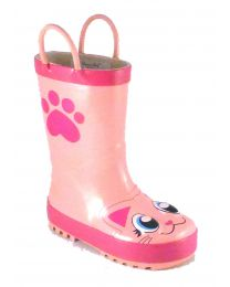 Kid's Western Chief Pink Kitty Rain Boot