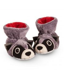 Little Kid's Acorn Easy Critter Bootie Grey Raccoon