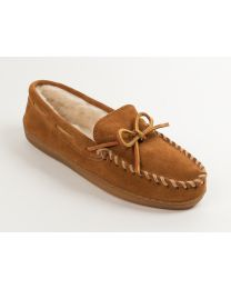 Men's Minnetonka Pile Lined Moc Brown