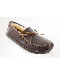Men's Minnetonka Sheepskin Moose Moc Chocolate