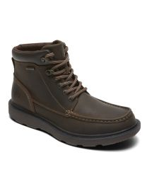 Men's Rockport Boat Builder Waterproof Moc Toe Dark Brown