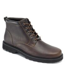 Men's Rockport Northfield Plain Toe Waterproof Boot Chocolate