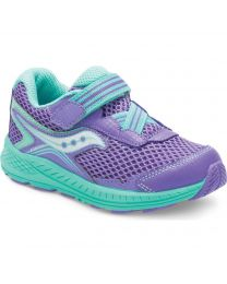 Little Kid's Saucony Ride 10 Jr Purple / Turquoise