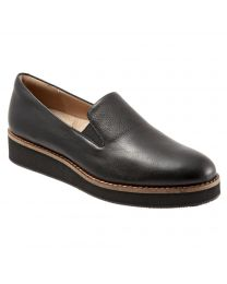 Women's Softwalk Whistle Black Leather