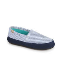 Women's Acorn Summer Acorn Moc Blue Stripe