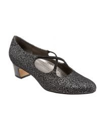 Women's Trotters Jamie Black Silver Fabric